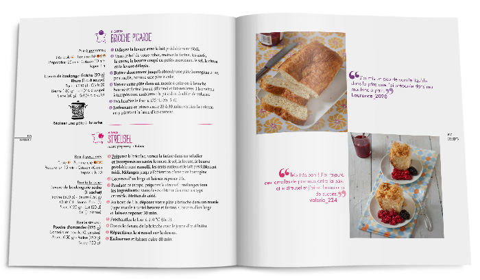 Double-page de recettes Made In France